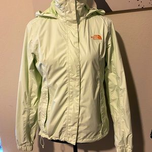 The North Face jacket light green